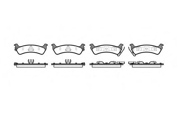 Колодка торм. JEEP GRAND CHEROKEE 2.5-5.9 95-99 задн. (пр-во REMSA)                                   арт. 062902