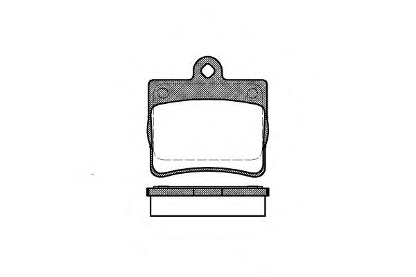 Колодка торм. MB C-CLASS задн. (пр-во REMSA)                                                         TRW арт. 063000