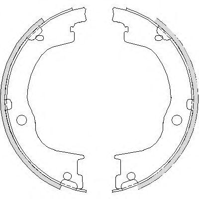 Колодки гальмівні барабанні  арт. 474900