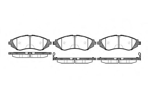 Колодка торм. DAEWOO LANOS 1.6 16V, NUBIRA, передн. (пр-во REMSA)                                     арт. 064502