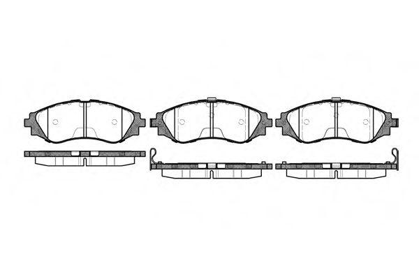 Колодка торм. CHEVROLET LACETTI передн. (пр-во REMSA)                                                 арт. 064512