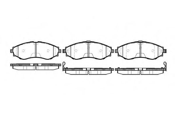 Колодка торм. CHEVROLET LACETTI передн. (2-й сорт)(пр-во REMSA)                                       арт. 064532