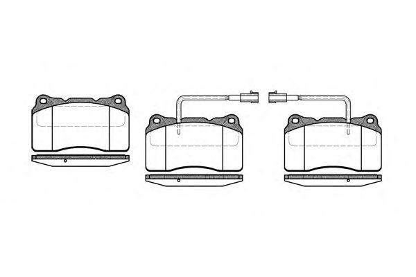 Комплект тормозных колодок, дисковый тормоз  арт. 066622