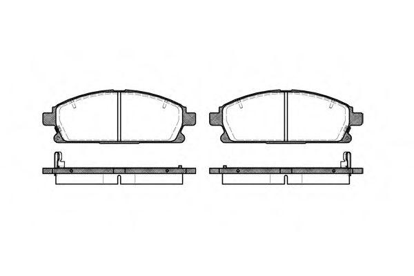 Колодка торм. NISSAN X-TRAIL (T30) (07/01-05/07) передн. (пр-во REMSA)                                арт. 067412
