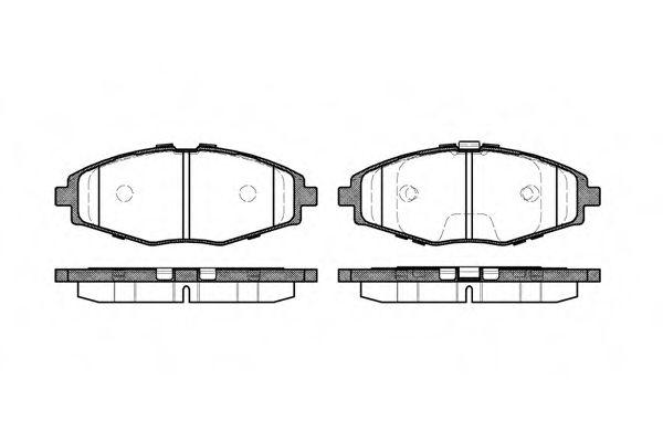 Колодка торм. DAEWOO LANOS 1.5, MATIZ передн. (пр-во REMSA)                                           арт. 069600