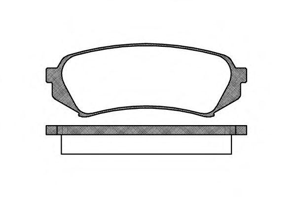 Гальмівні колодки дискові зад. Toyota Land Сruiser (J100) 4,2 98-/Lexus LX II (UZJ100) 02- REMSA 070600