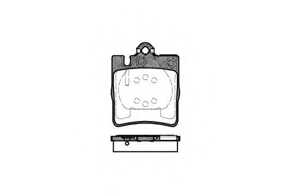 Колодка торм. MB E-CLASS (W210) задн. (пр-во REMSA)                                                  REMSA арт. 070900