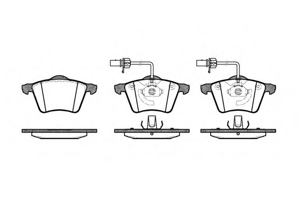 Колодка торм. VW SHARAN передн. (пр-во REMSA)                                                         арт. 072102