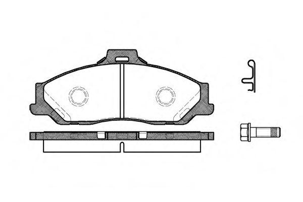 Колодка торм. MAZDA B 2200-2600 99-06,BT-50 2.5-3.0TD 06- передн. (пр-во REMSA)                       арт. 073001