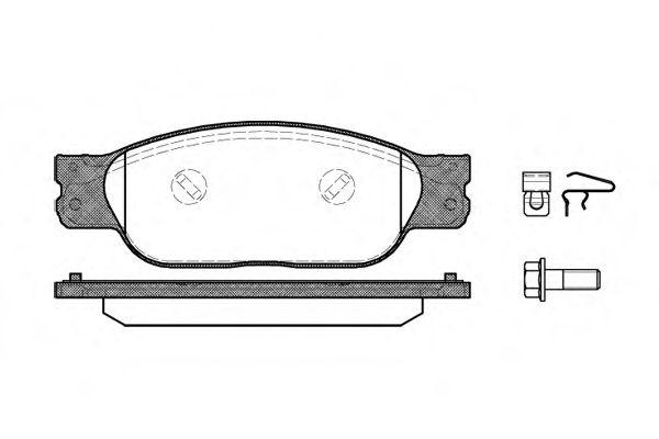 Колодки гальмівні дискові  арт. 073110