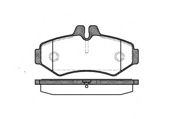 Гальмівні колодки дискові зад. DB/VW/Vario/Sprinter/VW LT  REMSA 073300