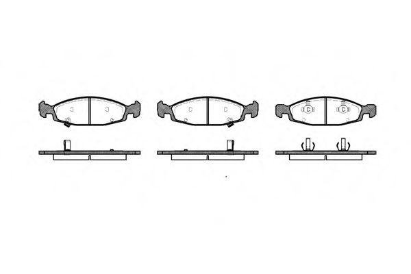 Колодка торм. JEEP передн. (пр-во REMSA)                                                              арт. 073602