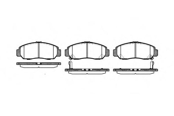 Колодка торм. HONDA CIVIC, FR-V передн. (пр-во REMSA)                                                 арт. 074712