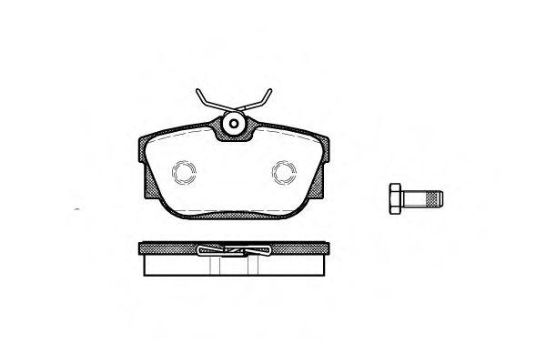 Колодка торм. VW T4 задн. (пр-во REMSA)                                                              REMSA арт. 076700