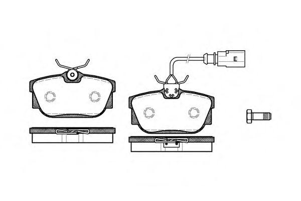 Гальмівні колодки дискові зад. (з датчиком) VAG T4 97- REMSA 076701