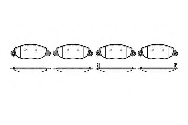 Колодка торм. FORD TRANSIT (FD, FB, FS, FZ, FC) передн. (пр-во REMSA)                                LPR арт. 077212