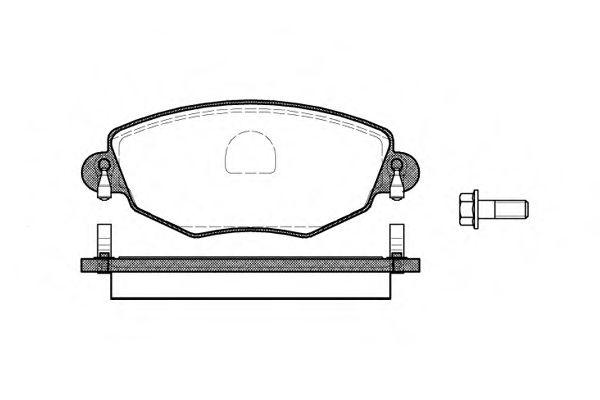 Колодка торм. FORD MONDEO III (B5Y) передн. (пр-во REMSA)                                             арт. 077600