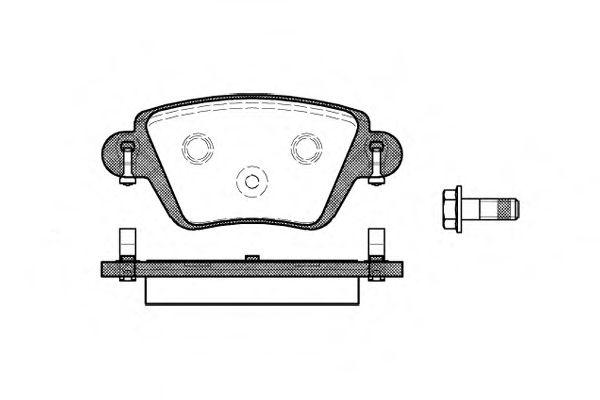 Гальмівні колодки дискові зад. Ford Mondeo 1.8/2.0/2.5 00- Renault Kangoo 1.6/1.9D 10.01-  REMSA 077710