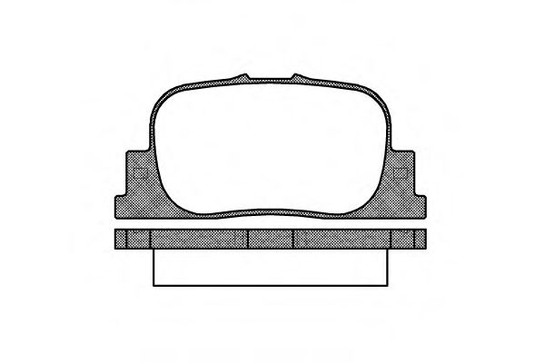 Колодка торм. TOYOTA CAMRY (08/96-11/01) задн. (пр-во REMSA)                                         BOSCH арт. 080100
