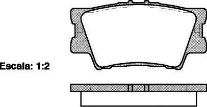 Гальмівні колодки дискові зад. Toyota Rav 4 III 2.0 VVT-i, 2.2 D-4D, 2.2 06- REMSA 123100