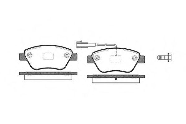Колодка торм. FIAT PUNTO передн. (пр-во REMSA)                                                        арт. 085811