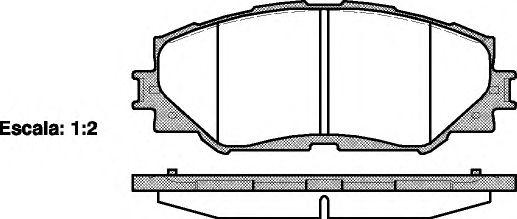 Гальмiвнi колодки дискові перед. Toyota Auris 1.4D-4D 03/07- REMSA 123200