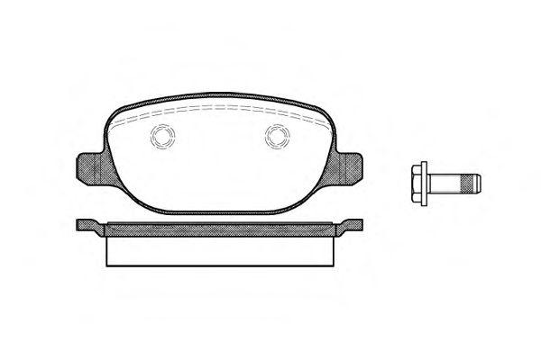 Комплект тормозных колодок, дисковый тормоз  арт. 087800