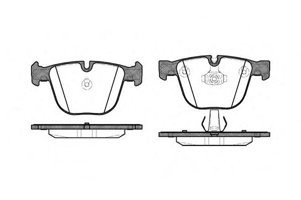 Колодка торм. BMW X5, X6 задн. (пр-во REMSA)                                                          арт. 089200