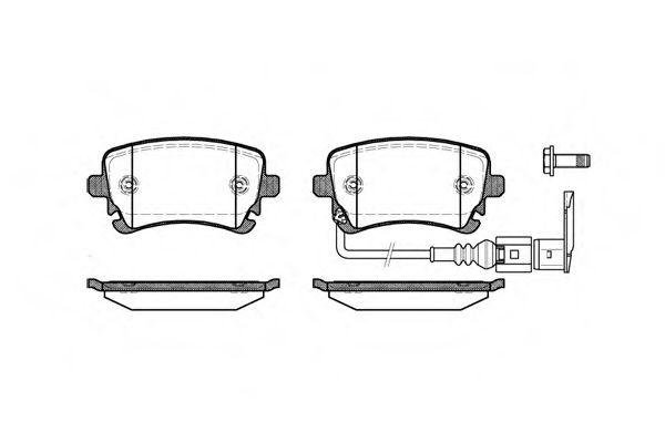 Гальмівні колодки дискові зад. (з датчиком) Audi A4, A6 2.0TDI-6.75V8R 08.99- VW Т5  REMSA 089711