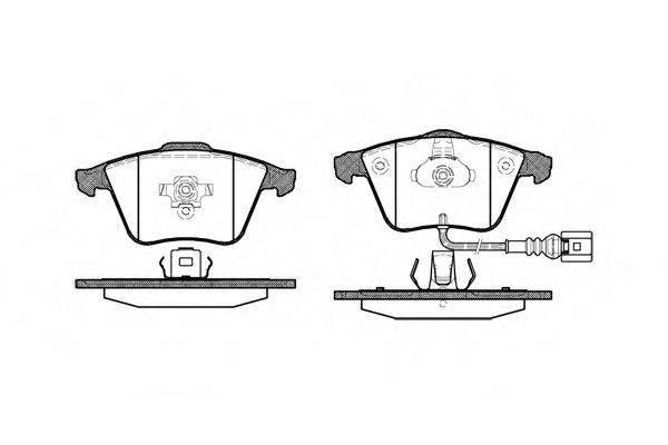 Гальмівні колодки Audi/VW 05- REMSA 096432