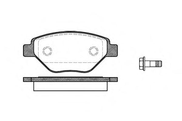 Колодка торм. RENAULT MEGANE II (BM0/1_, CM0/1_) передн. (пр-во REMSA)                               REMSA арт. 097700