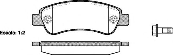 Гальмівні колодки дискові зад. Citroen Jumper Fiat Ducato Peugeot Boxer 2.2Hdi-3.0Hdi 04.06- REMSA 123800