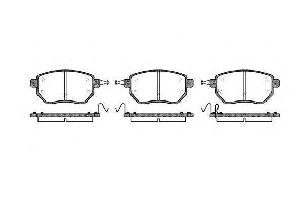 Колодка торм. INFINITI FX передн. (пр-во REMSA)                                                       арт. 098502