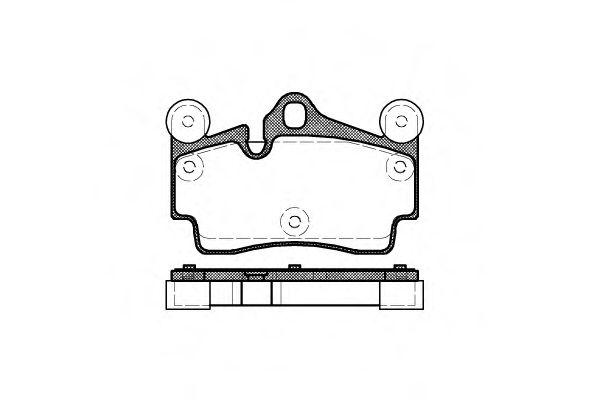 Гальмівні колодки дискові зад. VW Touareg 2.5 04-10 /Porsche Cayenne 3.2 02- REMSA 099600