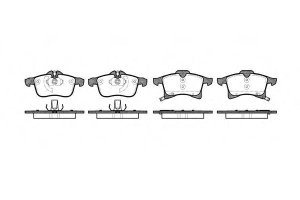 Колодка торм. OPEL ASTRA H передн. (пр-во REMSA)                                                     LPR арт. 103602