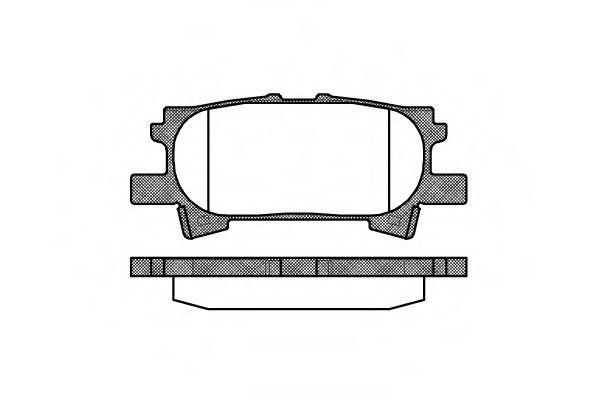 Гальмівні колодки дискові зад. Lexus RX 300/RX 400H 03- REMSA 104000