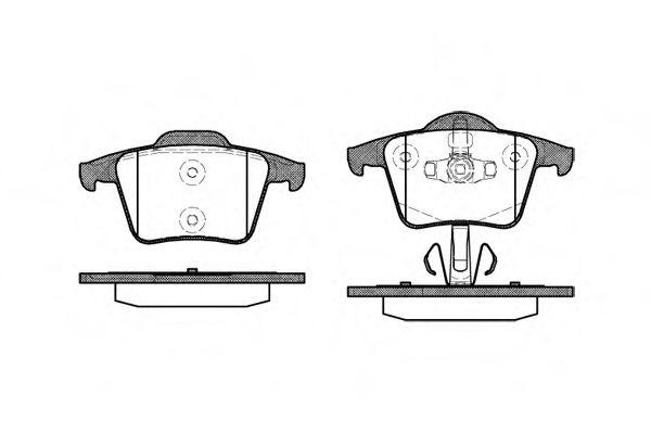 Гальмiвнi колодки дискові зад. Volvo XC 90 02-> REMSA 104400