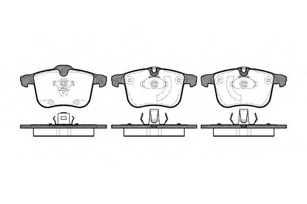Тормозные колодки Колодки тормозные дисковые передние  LPR арт. 105300