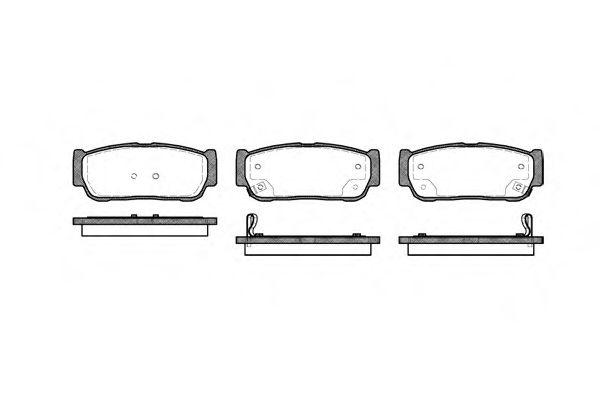 Колодка торм. KIA SORENTO задн. (пр-во REMSA)                                                         арт. 106302
