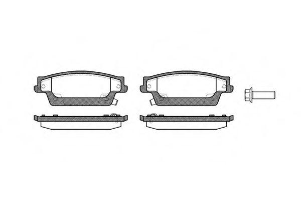 Комплект тормозных колодок, дисковый тормоз  арт. 108704
