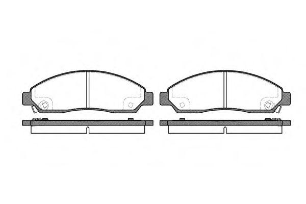 Колодка торм. ISUZU D-MAX 2.5DITD 07-,3.0D 07-;RODEO 2.5 05- передн. (пр-во REMSA)                    арт. 109814