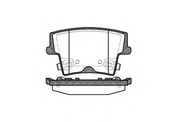 Тормозные колодки (пр-во Remsa)                                                                       арт. 112708