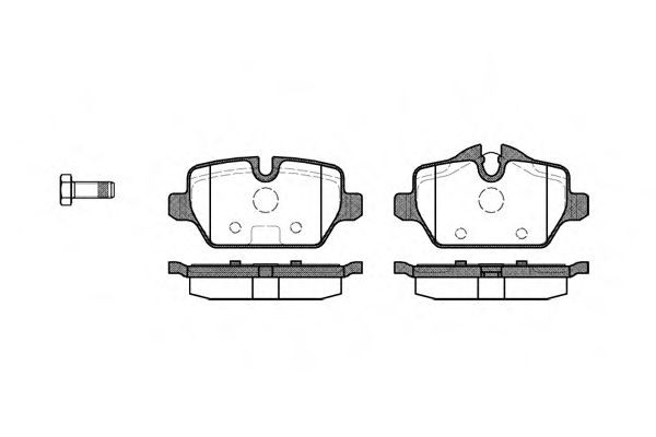 Гальмівні колодки диск.задні BMW 1 (E81), 3 (E90) 1.6i/1.8i/2.0 03-  REMSA 113200