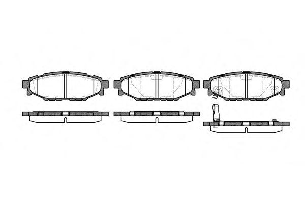 Гальмівні колодки дискові зад. Subaru Legacy IV 2,0/2,5 03- REMSA 113601