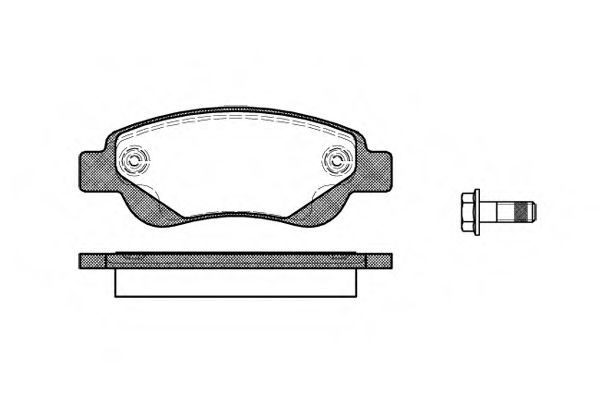 Колодка торм. CITROEN C1, PEUGEOT 107 передн. (пр-во REMSA)                                           арт. 117700