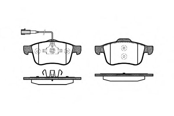 Комплект тормозных колодок, дисковый тормоз  арт. 118302