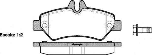 Гальмiвнi колодки дискові зад. DB Sprinter 3-t 04.06- (Bosch) REMSA 124600