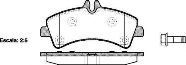 Гальмівні колодки дискові зад. DB Sprinter 5T 06- (Bosch) REMSA 124700