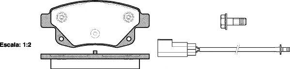 Гальмівні колодки дискові зад. Ford Transit 2,2-2,4 TDCI 06- REMSA 125202
