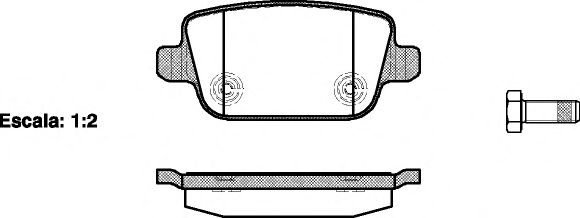 Гальмівні колодки дискові зад. Ford Galaxy, Mondeo 07- REMSA 125600